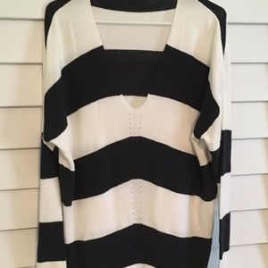 Forever 21 oversized rugby stripe sweater